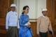 Aung San Suu Kyi, U Win Myint and U Aye Thar Aung enter Parliament in March 2016. (Photo - JPaing/ The Irrawaddy)