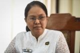 Daw Hlaing Maw Oo, YCD ,Secretary, June 8, 2016. ( Photo - JPaing / The Irrawaddy )