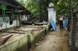 The mosque destroyed in sectarian rioting on Thursday in Thuye Thamain village, Waw Township, Pegu Division. (Photo: Hein Htet / The Irrawaddy)