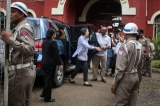 UN Human Rights Commission Ms.Yanghee Lee visited Rangoon's Insein Prison for UN Special Rapporteur to Burma on June 27, 2016.  (Photos: Hein Htet / The Irrawaddy)