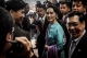 Myanmar Foreign Minister and State Counselor Aung San Suu Kyi greets the Burmese migrants workers after a meeting with Myanmar Community at Talay Thai Seafood Market in Mahachai in Bangkok, Thailand, June, 23, 2016. ( Photo - JPaing / The Irrawaddy )