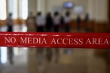 No media access area at Myanmar Parliment in Naypyidaw, Feb 9 , 2016 . ( Photo - JPaing / The Irrawaddy )
