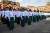 Ceremony at Rangoon's Secretariat Commemorates Martyrs' Day, 19 July ,2016. (Photos: JPaing / The Irrawaddy)