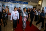 Aung San Suu Kyi attended the closing ceremony of the Union Peace Conference on September 3,2016. Photo - Pyay Kyaw / The Irrawaddy