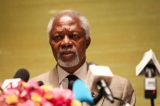 Arakan Advisory Commission Chairman Kofi Annan speaks to the media during a press conference in Rangoon at the end of his recent Burma trip on Sep 8, 2016.(Photo: JPaing / The Irrawaddy)