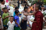 More than 3,800 villagers who fled escalating conflict between a splinter group of the Democratic Karen Buddhist Army and joint forces of the Burma Army and its allied Border Guard Force in Hlaingbwe Township, Karen State have taken refuge in Myaing Gyi Ngu monastery. (Photos: Myo Min Soe / The Irrawaddy)