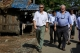 Members of an aid delegation tour IDP camps surrounding Arakan State capital of Sittwe on Oct 14,2016.