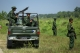 Heavily armed Myanmar army patrol Kyinkanpyin area in Maungdaw township in Rakhine near the Bangladesh border on October 16, 2016.