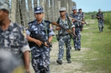 Border Guard Police patrol in northern Arakan State.