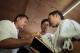 A couple pray during a Pau Cin Hau marriage ceremony. (Photo: Pyay Kyaw / The Irrawaddy)