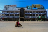 Muse, a major border trading hub between Burma and China, is relatively deserted on Nov 22 after fighting between the government troops and ethnic alliance armies broke out since weekend. (Photo: Zaw Zaw / The Irrawaddy)