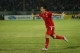 Myanmar player David Htan celebrates after scoring against Malaysia during the AFF Suzuki Cup Group B soccer match in Thuwanna Football statdium in Yangon on November 26, 2016. Hein Htet/The Irrawaddy