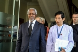 Kofi Annan-led Arakan (Rakhine) Advisory Commission meets with Burma President U Htin Kyaw in Naypyidaw on Dec 5 morning. (Photo: Htet Naing Zaw / The Irrawaddy)