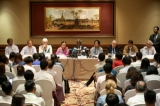 Arakan State Advisory Commission chairman Kofi Annan led a press conference at Sule Shangri-La Hotel in Rangoon on December 6, 2016. Hein Htet/ The Irrawaddy