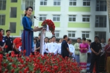 Myanmar State Counselor and Foreign Minister Daw Aung San Suu Kyi opened a government public housing (Yadana Hninsi Housing) development project in Rangoon on December 24, 2016. Hein Htet/ The Irrawaddy