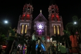 Christmas light decorations in Yangon on December 24, 2016. Hein Htet/ The Irrawaddy