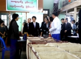 Japan's Parliamentary Vice-Minister for Internal Affairs and Communications Megumi Kaneko visited Rangoon's General Post Office on Jan 17, 2017. (Photo: Chan Son / The Irrawaddy)