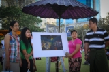 The festival—also known as My Yangon My Home—runs from Saturday until March 12 with a program of art installations in public space, pop-up art exhibitions, gallery tours, film screenings, and workshops. (Photos: Chanson/ The Irrawaddy)