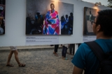 Burma's State Counselor Daw Aung San Suu Kyi attends the awards ceremony of the annual Yangon Photo Festival 2017 at the Institut Francais on March 11. The 9th Yangon Photo Festival was held from March 3 to 19 at different places across the city. The prizes were awarded for the best photo-stories 2016-2017 to the Burmese photographers on photo night.     PHOTO - NAING LIN SOE / THE IRRAWADDY