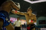 Organized by Myanmar Boxing Federation, International Lethwei Challenge Fight was held at Thienbyu Indoor Stadium in Rangoon on March 19. The matches between Saw Htoo Zaw (Myanmar) and Hanchai (Thailand); Kyel Sin Phyo (Myanmar) and Thomas Hengstberger (Austria); and Saw Gaw Mudo (Myanmar) and Iqvezang (Thailand) ended a draw, and in other matches, Shan Ko (Myanmar) beat Sin Yaing (Thailand), and Daiki Kaneko (Japan) beat Martin Sutai (England). (PHOTO - NAING LIN SOE / THE IRRAWADDY)