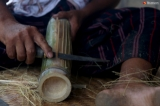 """The art of crafting  instrument is now mainly sold as a souvenir item at makers' homes in Kayah villages in Loikaw and Demoso townships.a """"kaloe""""—a traditional bamboo guitar made by ethnic Kayah—is disappearing and the (Photo-Thet Tun Naing/The Irrawaddy)"""