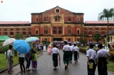 Yangon's Secretariat was opened to public from July 19-21 to commemorate the 70th anniversary of Martyrs' Day. Long queues formed daily to see the office where Gen Aung San and eight of his colleagues were gunned down 70 years ago during a meeting. This year was the first that the office was restored with its original furniture. (Photos: Thet Tun Naing / The Irrawaddy)