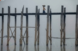 Life around Taungthaman Lake and U Bein Bridge on a misty morning (Photo: Zaw Zaw / The Irrawaddy)