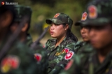 Shanni Nationalities Army held on a graduation ceremony that basic military and political course in camp of No. 753, Homalin Township, Sagaing Region on Feb 16, 2019.  Photo - Htet Wai/ Irrawaddy