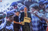 "Yangon Photo Festival 11th edition awarded night was held at French Institute on February 24, 2019.  Photographer Hkun Lat won first prize in the Professional category for his story ""The Peace House"". Zarni Phyo won second prize for his breaking news coverage of the case of the two arrested Reuters journalists. His story was named after the reporters: ""Wa Lone and Kyaw Soe Oo"".  Photo - Htet Wai/ Irrawaddy"