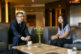 Mr. Martin Tiapa, the deputy minister of foreign affairs of the Czech Republic, hosted Irrawaddy Senior reporter Nyein Nyein during exclusive interview section on March 8, 2019 at Chartrium Hotel, Myanmar.  Photo - Kyaw Thura/ Irrawaddy