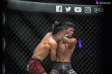 One Championship introduced new Myanmar MMA Fighter of Ethnic Chin descent Tial Thang to spectators during March 8 fight at Thuwunna Indoor Stadium, 2019.  Photo - Htet Wai/ Irrawaddy