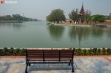Sidewalks are being renovated on 66th Street by the moat, one of the landmarks in Mandalay. Zaw Zaw/The Irrawaddy