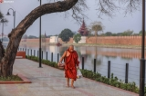IN PICTURES: Mandalay morning on the first day Myanmar New Year  (Photo: Zaw Zaw / The Irrawaddy)