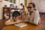 Volunteers from Khawel Chan school for the blind were seen on April 19, 2019.  Photo - Htet Wai/ Irrawaddy