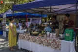"""Yangon Organic Market is seen on April 27, 2019. This market is named 'Yangon Farmer Market"""" and opens ever Saturdays at Kandawgyi.  Photo - Htet Wai/ Irrawaddy"""