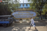 Yangon Electricity Supply Corporation building and electric supply offices from Latha township are seen on February 19, 2020.  Photo - Htet Wai/ Irrawaddy