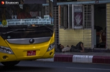 Homeless people are seen on April 6, 2020 four days before impose lockdown to control the spread of the coronavirus in Yangon.  Photo - Htet Wai/ Irrawaddy