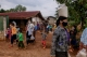 Myanmar migrants in the village along the Thai-Myanmar border have been affected by the lockdown against Coivd-19 receiving food handouts in Phop Phra, Tak, Thailand in May 2020.